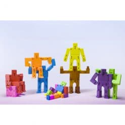 cubebot micro robot toy in various colours on display